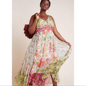 Anthro Malibu Floral Maxi dress sz 18W Plus